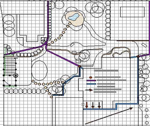 план схема посадки цветника в саду с ирисами пионами астильбой хостой 500 x 420 · jpeg